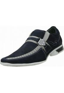 Sapato Social Nevano Moderno - Masculino-Azul