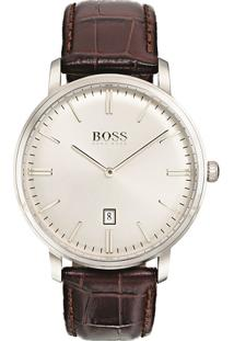 Relógio Hugo Boss Masculino Couro Marrom - 1513462