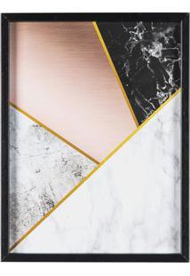 Quadro Decorativo Geométrico- Preto & Branco- 40X30Xart Frame