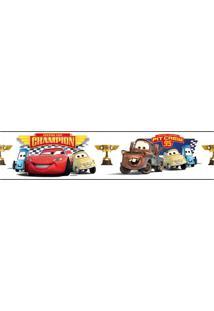 Adesivos De Parede Roommates Branco/Vermelho Cars - Piston Cup Champion Peel & Stick Border