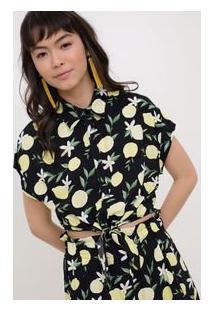 Camisa Cropped Floral