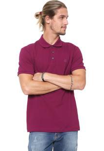 Camisa Polo John John Reta Basic Roxa