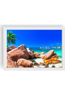 Quadro Love Decor Decorativo Com Moldura Praia Branco