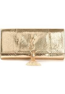 Saint Laurent Clutch 'Kate' Com Tassel - Metálico