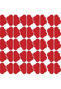 Adesivo De Parede Nuvens Vermelhas 45Un