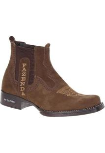 Bota Couro Fazenda Boots 19788 Masculina - Masculino-Marrom