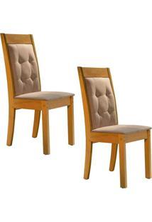 Conjunto Com 2 Cadeiras Rubi Ypê E Pena