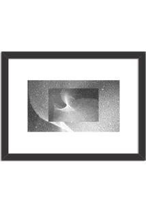 Quadro Decorativo Alternativo Abstrato Moderno Preto - Médio