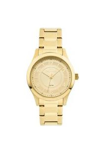 Relógio Technos Feminino Dourado Analógico 2035Mfts4X