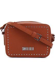 Bolsa Santa Lolla Mini Bag Risco - Feminino-Caramelo