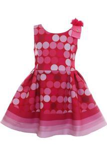 Vestido Poá - Feminino-Rosa