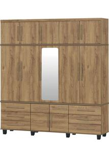 Guarda-Roupa Triplex Gávea 5 Portas Com Espelho Canelato Trinobél Móveis