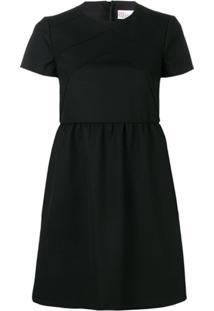 Red Valentino Vestido Reto Estruturado - Preto