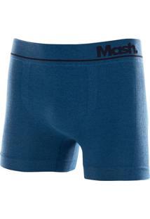 Cueca Boxer Microfibra Sem Costura Azul Petróleo M