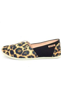Alpargata Quality Shoes Feminina 001 Onça E Preto 36