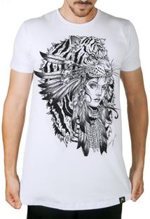 Camiseta Artseries Longline India Tigre