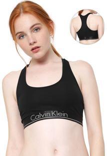 Top Calvin Klein Underwear Logo Preto