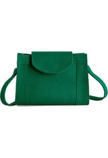 Bolsa Couro Tom21 Zínia Feminina - Feminino-Verde