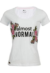 Camiseta Seeder Feminina Bordada Branca - Kanui