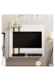 Painel Para Tv Smart Plus - Branco / Nature - Mania De Móveis