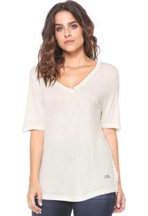 Camiseta Ellus Retilinea Off-White