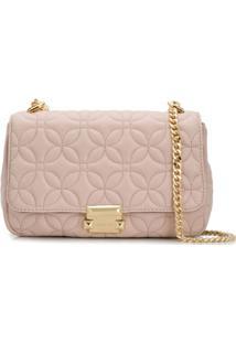 Michael Michael Kors Sloan Floral Quilted Shoulder Bag - Rosa