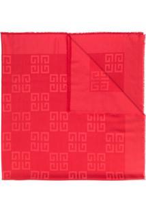 Givenchy Lenço 4G - Vermelho