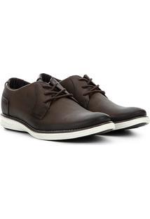 Sapato Social Couro Pegada Masculino - Masculino-Marrom Escuro