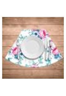 Jogo Americano Para Mesa Redonda Wevans Floral Premium Kit Com 6 Pçs