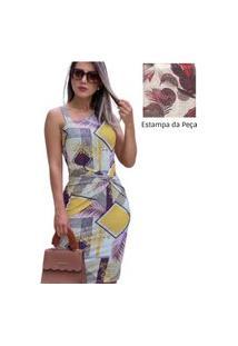 Vestido Feminino Midi Tubinho Suplex Moda Evangélica