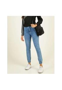 Calça Jogger Feminina Jeans Bolsos Biotipo