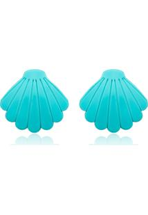 Brinco Le Diamond Concha Azul
