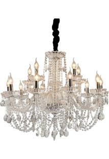 Lustre Derby Premier Iluminação, 171X82, Cristal E Metal, Transparente Única
