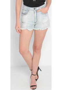 Short Jeans Com Argolas - Azul Claro- My Favorite Thmy Favorite Things