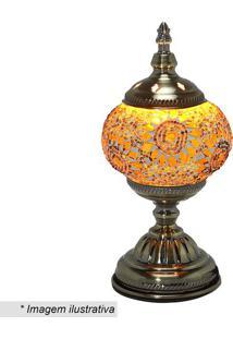 Abajur- Ouro Velho & Amarelo- 28X13,5X13,5Cm- Bimabruk