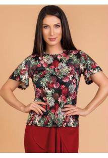 Blusa Moda Evangélica Floral