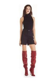 Bermuda Sarja Slim Alfaiataria Jeans