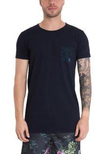Camiseta Timberland Double Face Long Slim Masculina - Masculino-Preto