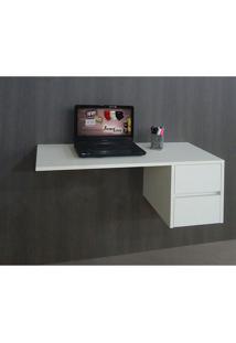 Escrivaninha Suspensa Mesa Para Computador Ou Notebook - Branca