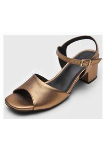 Sandália Usaflex Metalizada Dourada