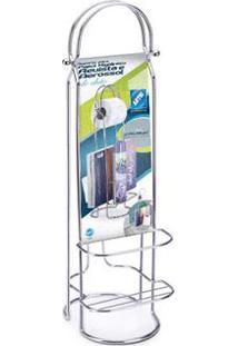 Porta Papel Higiênico E Aerossol Cromado Arthi