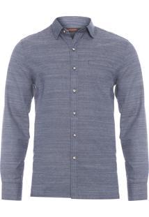 Camisa Masculina Rústica - Azul