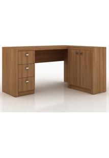 Mesa Para Escritório Me4100 Amêndoa - Tecno Mobili