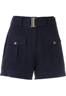Olympiah Shorts Com Bolsos 'Roma' - Azul
