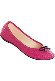 Sapatilha Pink Com Detalhe De Laço