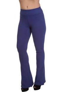 Calça Flare Miss Blessed Confort Plus Feminina - Feminino-Azul Escuro