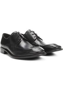 Sapato Social Couro Vr Georgio Masculino - Masculino-Preto