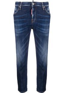 Dsquared2 Calça Jeans Slim Cropped - Azul