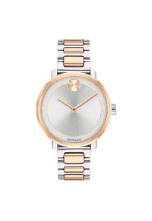 Relógio Movado Feminino Aço Prateado E Rosé - 3600504