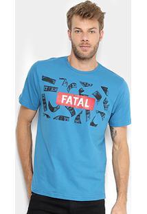 Camiseta Fatal Money Masculina - Masculino-Azul